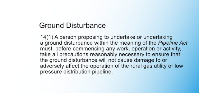 Ground Disturbance